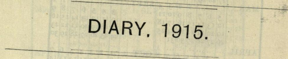 Cecil Sharp Diary 1915 banner image