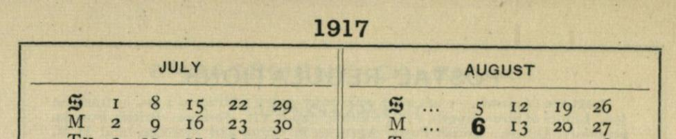Cecil Sharp Diary 1917 banner image