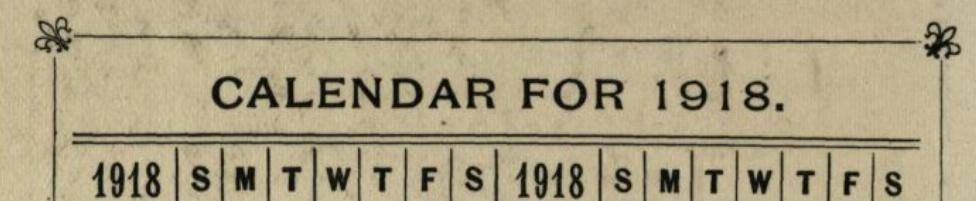 Cecil Sharp Diary 1918 banner image