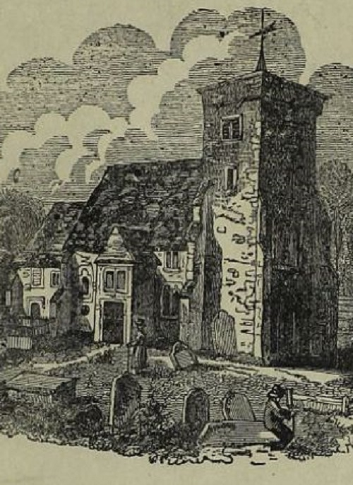Woodcut of a church from VWML digital archive